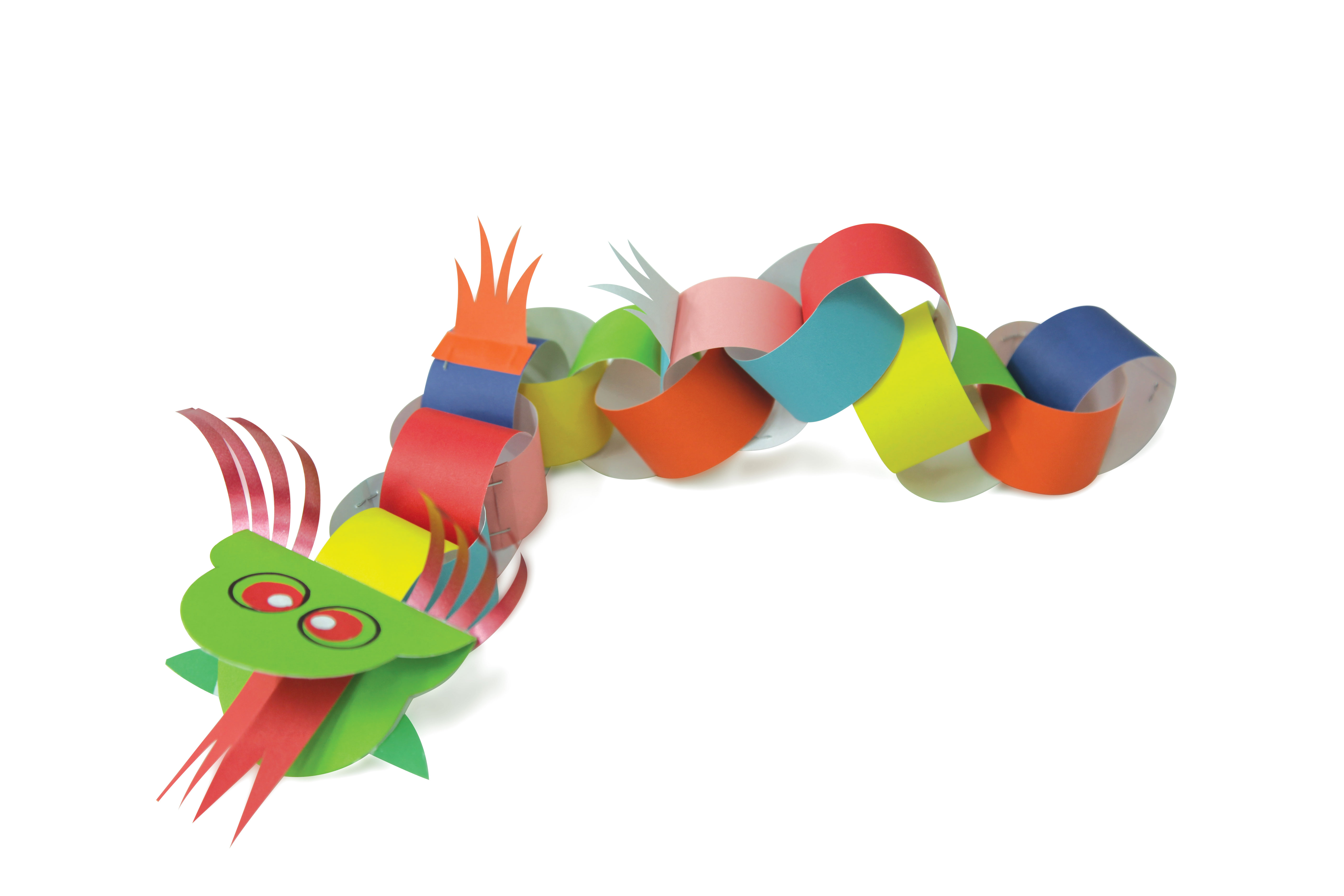 Paper chain dragons