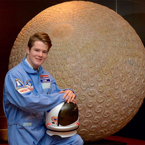 ASG student Chris Gallen pictured at Space Camp 2016
