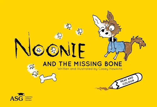 The new and improved front cover of Noonie and the missing bone_l
